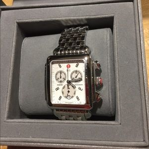 New Michele XL diamond deco watch